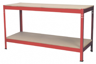 Sealey AP1535 Workbench 1.53mtr Steel Wooden Top